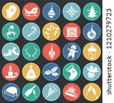 christmas and new year icons on ... | Shutterstock .eps vector #1210279723