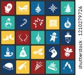 christmas and new year icons... | Shutterstock .eps vector #1210279726