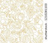 golden roses on white...   Shutterstock .eps vector #1210281103