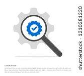 confirm icon   free vector icon | Shutterstock .eps vector #1210281220