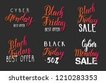 black friday sale lettering set ... | Shutterstock .eps vector #1210283353