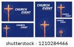vector set of blank banner... | Shutterstock .eps vector #1210284466