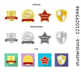 isolated object of emblem and...   Shutterstock .eps vector #1210295446