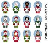 set of twelve icons of...   Shutterstock .eps vector #1210295599