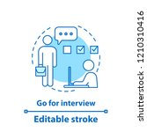 job interviewing concept icon.... | Shutterstock .eps vector #1210310416