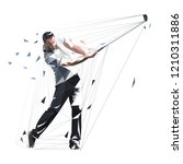 golf player  low polygonal... | Shutterstock .eps vector #1210311886