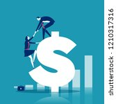 helping hand. businessman helps ... | Shutterstock .eps vector #1210317316