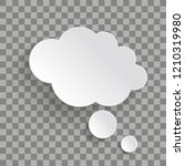 bevel thought bubble on the... | Shutterstock .eps vector #1210319980