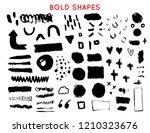 set of bold brush stroke shapes ... | Shutterstock .eps vector #1210323676