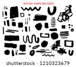 set of bold brush stroke shapes ... | Shutterstock .eps vector #1210323679