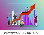 business graph growth concept... | Shutterstock .eps vector #1210330723