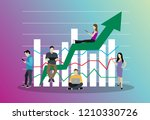 business graph growth concept... | Shutterstock .eps vector #1210330726