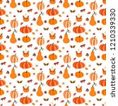 autumn seamless pattern on the... | Shutterstock . vector #1210339330