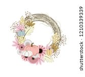 autumn wreath illustration on... | Shutterstock . vector #1210339339