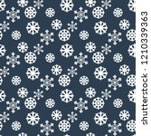 snowflakes seamless pattern on... | Shutterstock . vector #1210339363