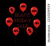 black friday sale illustration... | Shutterstock . vector #1210339519