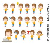 female facial expression... | Shutterstock .eps vector #1210339579