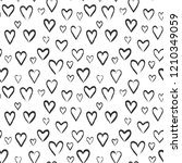 hearts seamless pattern. love... | Shutterstock .eps vector #1210349059