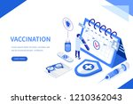 vaccination concept. can use... | Shutterstock .eps vector #1210362043