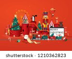 toy store christmas greetings... | Shutterstock .eps vector #1210362823