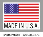 label for products made in usa. | Shutterstock .eps vector #1210363273