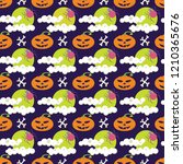 seamless vector pattern for... | Shutterstock .eps vector #1210365676