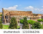 the coliseum and the triumphal... | Shutterstock . vector #1210366246