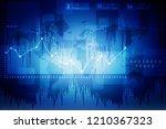 2d rendering stock market... | Shutterstock . vector #1210367323