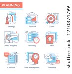 business planning and corporate ... | Shutterstock .eps vector #1210374799