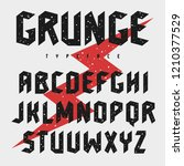 rough stamp typeface. grunge... | Shutterstock .eps vector #1210377529