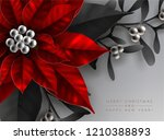 christmas greeting card with... | Shutterstock .eps vector #1210388893