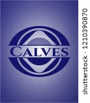 calves emblem with jean texture | Shutterstock .eps vector #1210390870