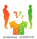 diet and weight loss. fat and... | Shutterstock .eps vector #1210397170