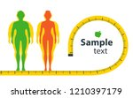 weight loss. the influence of... | Shutterstock .eps vector #1210397179