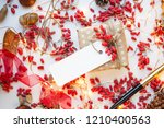 modern gift wrapping. doted...   Shutterstock . vector #1210400563