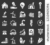 energy saving icon set. simple... | Shutterstock .eps vector #1210405396