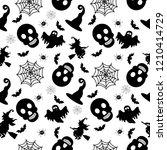abstract seamless halloween... | Shutterstock . vector #1210414729