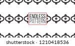 tribal aztec eye  dots  square. ... | Shutterstock .eps vector #1210418536