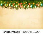 christmas holiday decoration... | Shutterstock .eps vector #1210418620