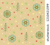 christmas or new year colored... | Shutterstock .eps vector #1210421599