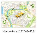 yellow taxi cab banner... | Shutterstock . vector #1210426153