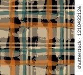 tartan. seamless grunge... | Shutterstock .eps vector #1210432126