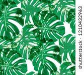 tropical pattern. seamless... | Shutterstock .eps vector #1210432963
