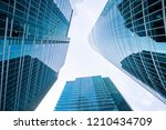 up view in financial districtg  ... | Shutterstock . vector #1210434709