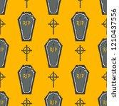 seamless pattern. halloween... | Shutterstock .eps vector #1210437556