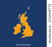united kingdom map   high... | Shutterstock .eps vector #1210448773