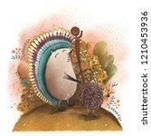 hedgehog shaman passes... | Shutterstock . vector #1210453936