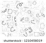 linear shapes on white. chaos... | Shutterstock .eps vector #1210458019