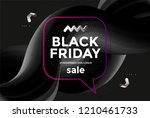 black friday sale poster design ... | Shutterstock .eps vector #1210461733