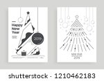 new year greeting card design...   Shutterstock .eps vector #1210462183